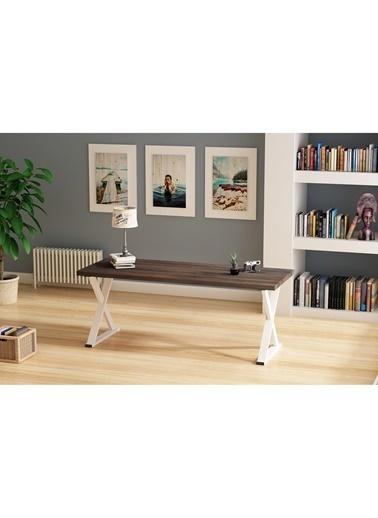 Woodesk Bahar Masif Ceviz Renk 150x80 Yemek Masası CPT7302-150 Kahve